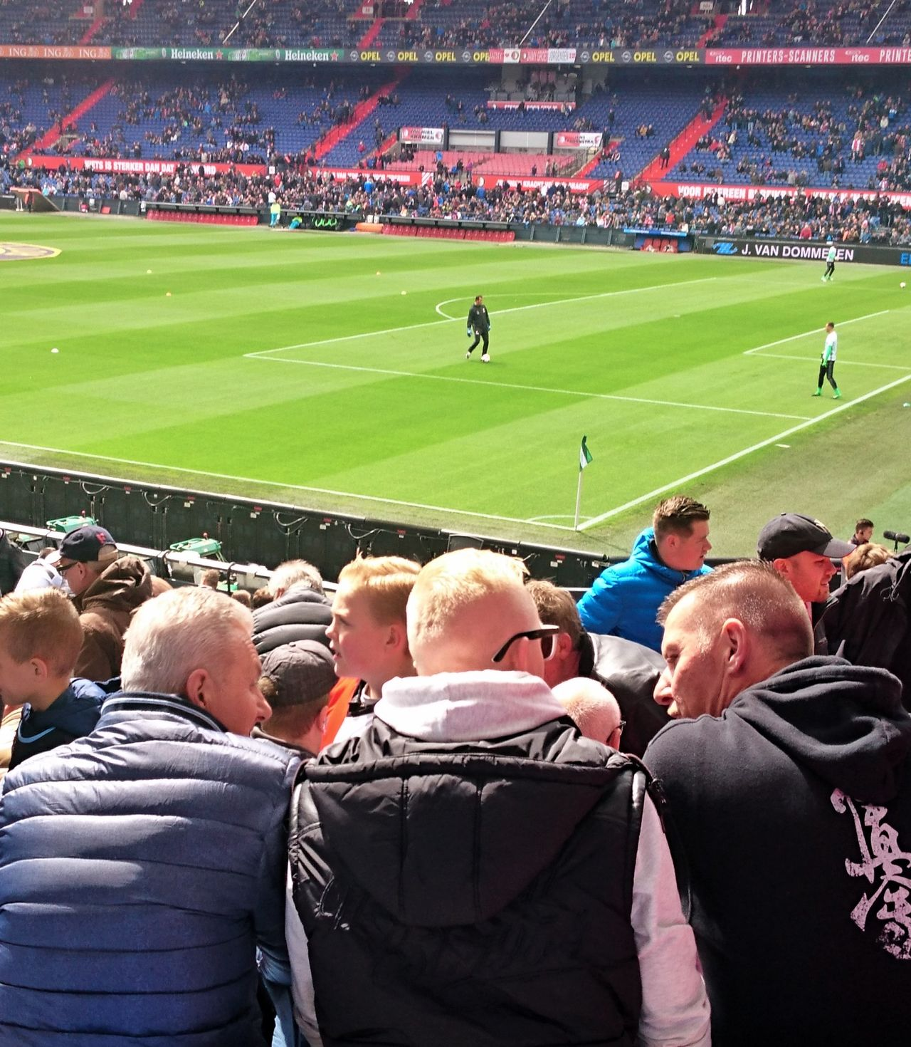 Soccer Stadium Football Feyenoord Feyutr Grass Team Sport Spectator Fans Before The Game Activity Supporter Togetherness (c) 2017 Shangita Bose All Rights Reserved From My Point Of View Feyenoord Rotterdam Fan - Enthusiast Audience Stadium Architecture De Kuip Rotterdam Netherlands
