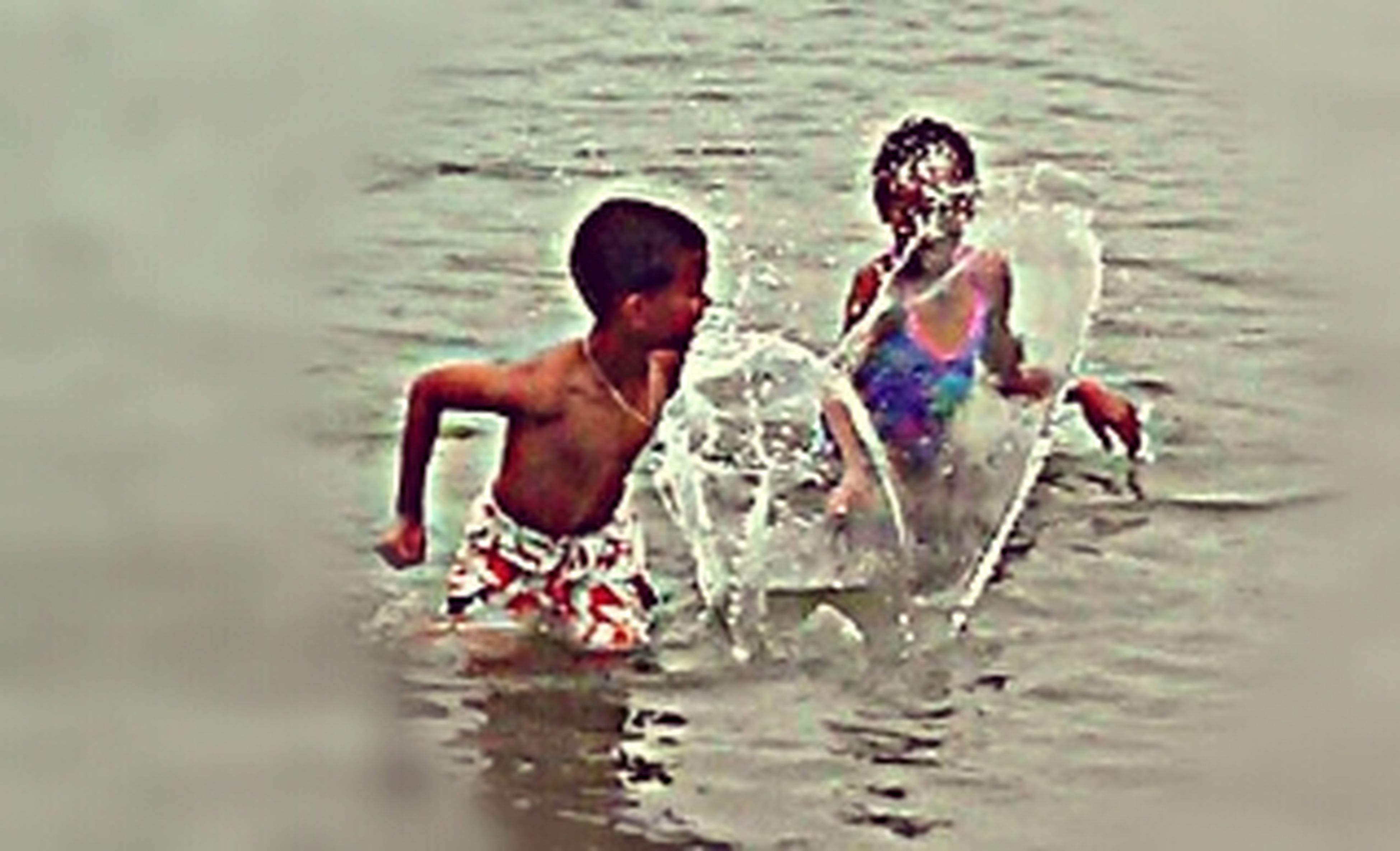 water, waterfront, lifestyles, leisure activity, swimming, childhood, sea, enjoyment, rippled, boys, togetherness, reflection, fun, vacations, shirtless, person, elementary age