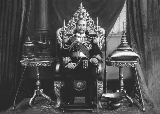 Thailand King Vintage Black And White
