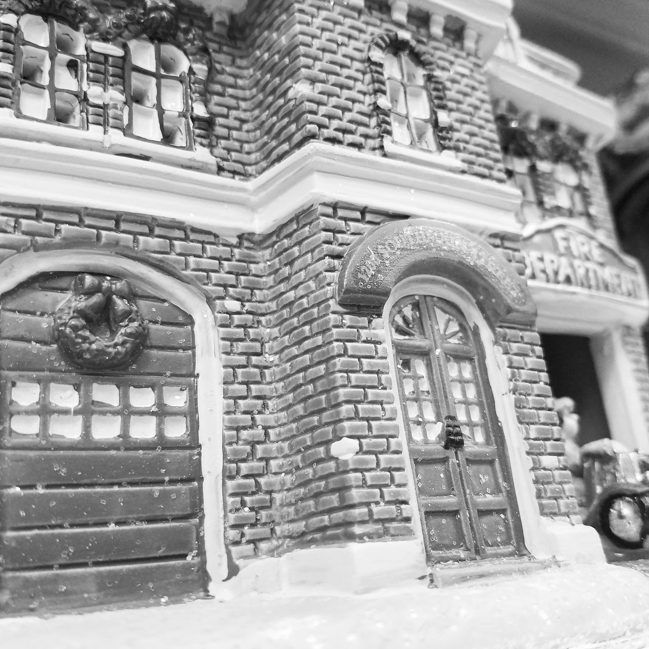 Toy House Small Tiny Tinyhouse Black And White Glass Walmart Photoshoot Photography Photo Photooftheday PhonePhotography Photo Of The Day First Eyeem Photo