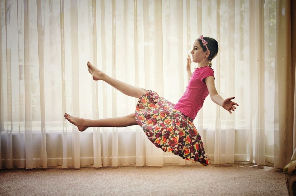 I don't usually do this type of photography but when your (not so) little girl asks - Dad can't say no. Levitation Experimental Kids Kids Being Kids Kidsphotography Floating Magic Edit The Magic Mission