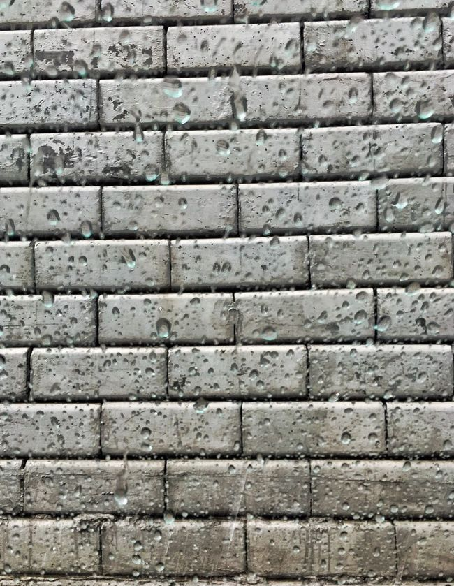 A weathered wall or a walled weather. Backgrounds Full Frame Brick Wall Architecture Pattern Built Structure Textured  Concrete Brick No People Stone Material Wall - Building Feature Rainy Days Rain Monsoon Instagood