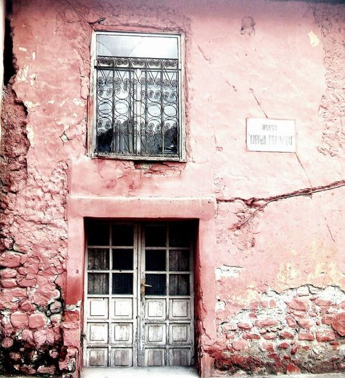 """""""Dirty""""... Pink Color Dirtypink Dirty Window Dirtydoors Dirtylove Love Living Window Architecture Built Structure Building Exterior Day No People Weathered Outdoors Close-up"""