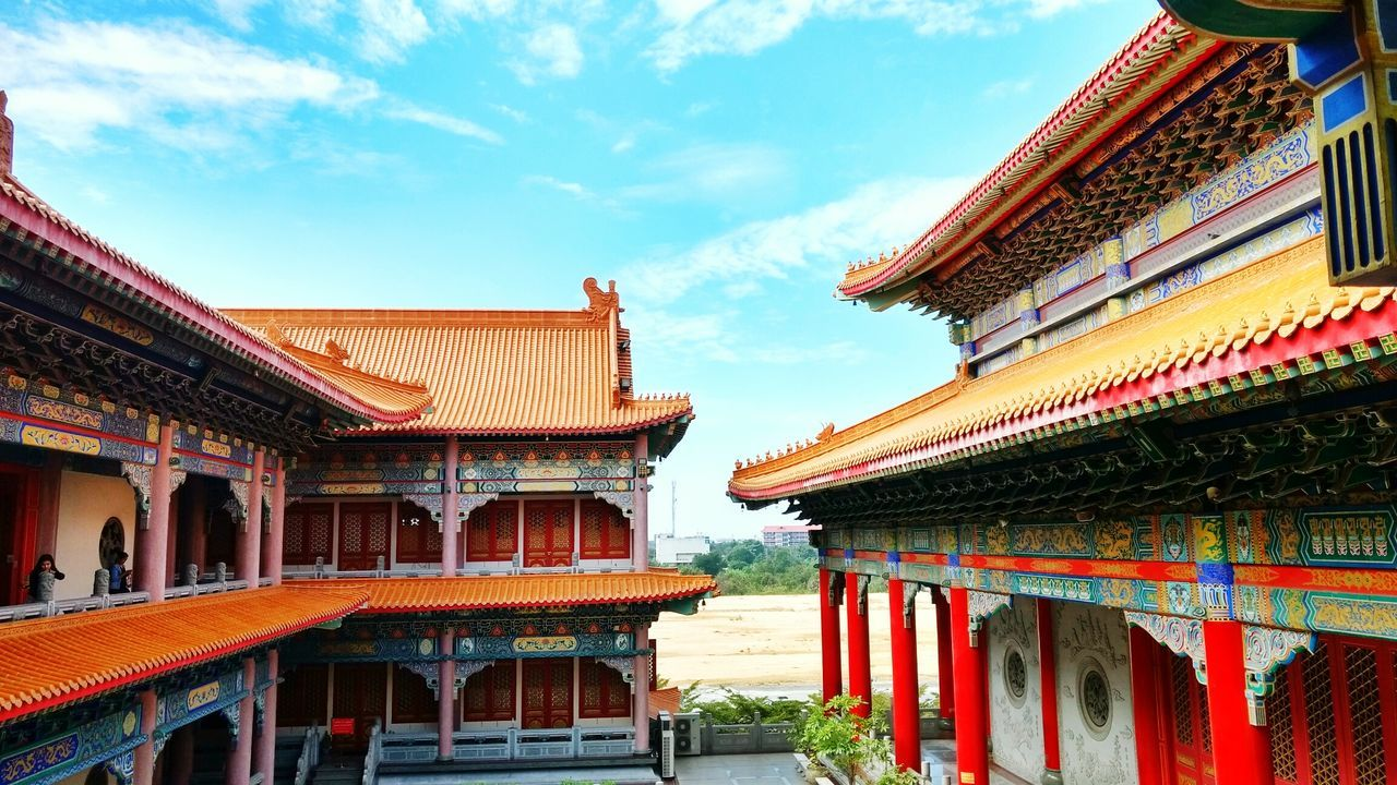 Architecture Sky Travel Destinations History Built Structure Travel Tourism Palace Red Cultures Building Exterior Ancient No People Gold Roof Cloud - Sky Royalty Gold Colored City Place Of Worship