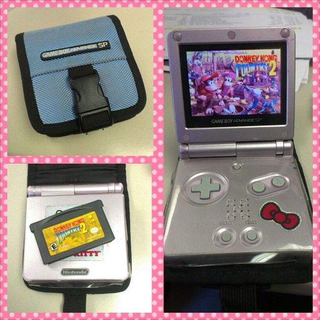 I'm currently playing #donkeykongcountry2 on my #gameboyadvancesp. I've only been playing for a few days (only on my downtime, like breaks at work and lunch) and I'm a few levels from being finished lol. Vintage Gaming Retro Retrogaming Wtfgamersonly Gameboyadvance Donkeykongcountry2 Hellokittyjunkie Vintagegaming Notcibsunday Rcgameboyweek Diddyking