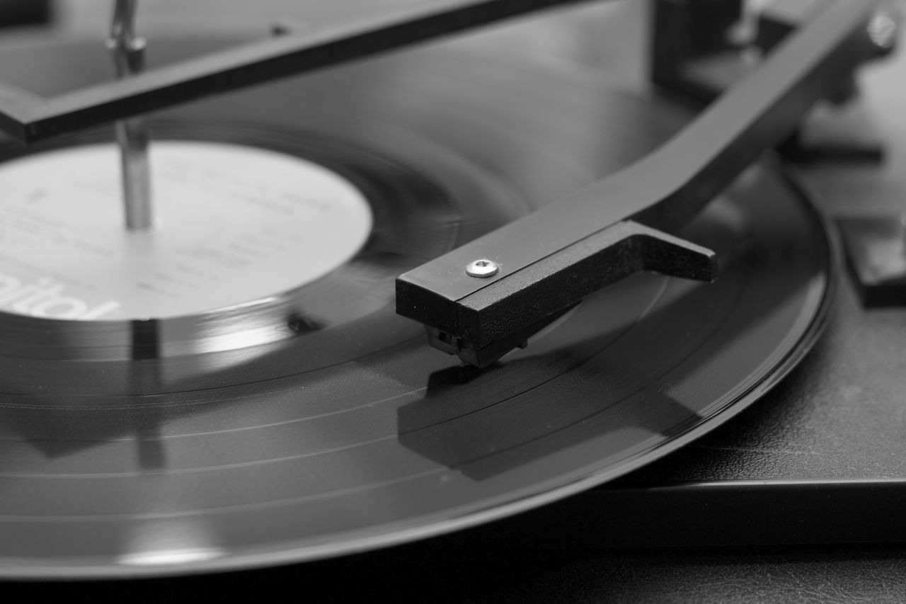 Black & White Black And White Close Up Close-up Music No People Record Turn Table Turn Tables First Eyeem Photo