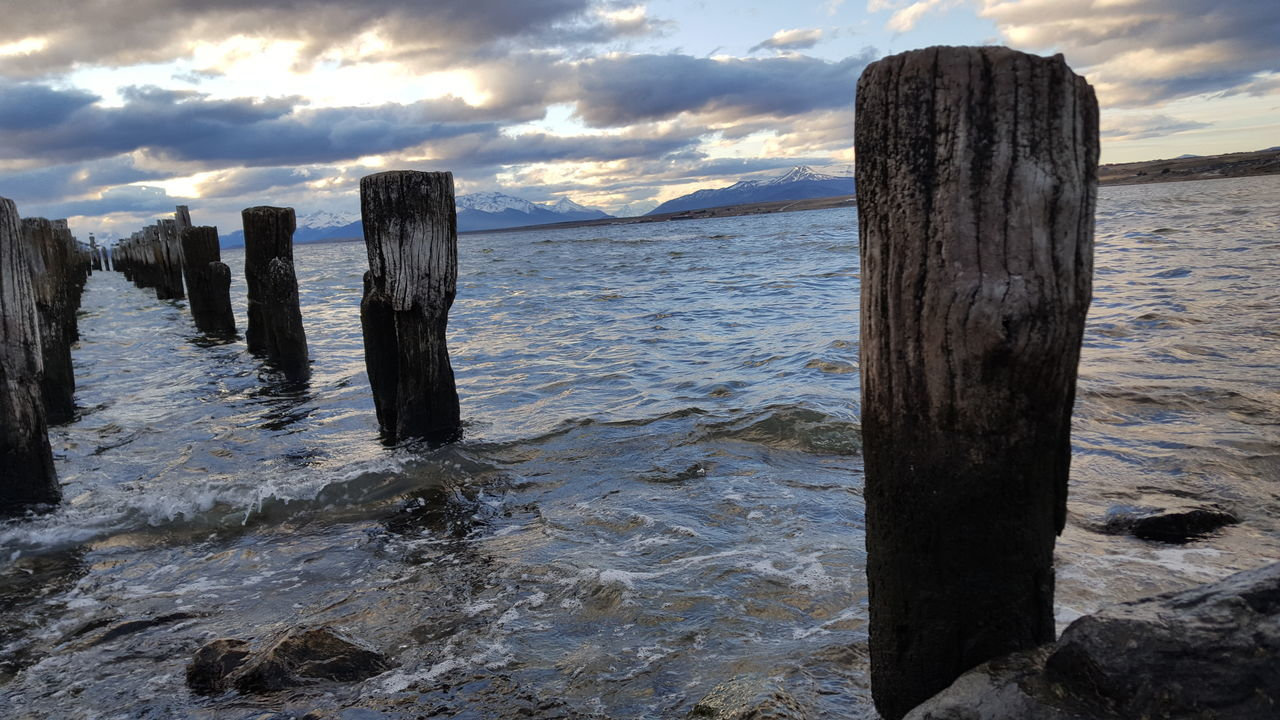 Water Sea Tranquil Scene Sky Tranquility Cloud - Sky Travel Photography Puerto Natales Patagonia Chilena Chile Nature Photography Beauty In Nature Majestic Landscape_photography Landscape_Collection New Talents Fresh On Eyeem