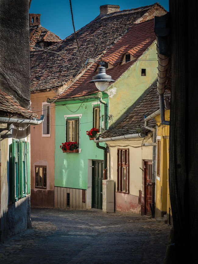 Old street in Sibiu, Romania. Architecture Day Exterior House No People Outdoors Residential Building Residential Structure The Way Forward Town Window