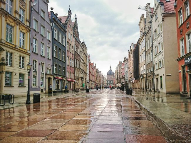 Architecture City Sky Outdoors Day Polska Poland Gdansk Rynek Oldtown Staremiasto Street Ulica