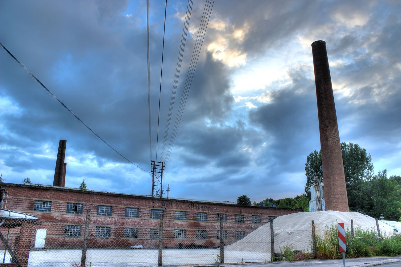 Light In The Darkness Light And Shadow Industrial Photography Sky And Clouds Buildings Fabric HDR