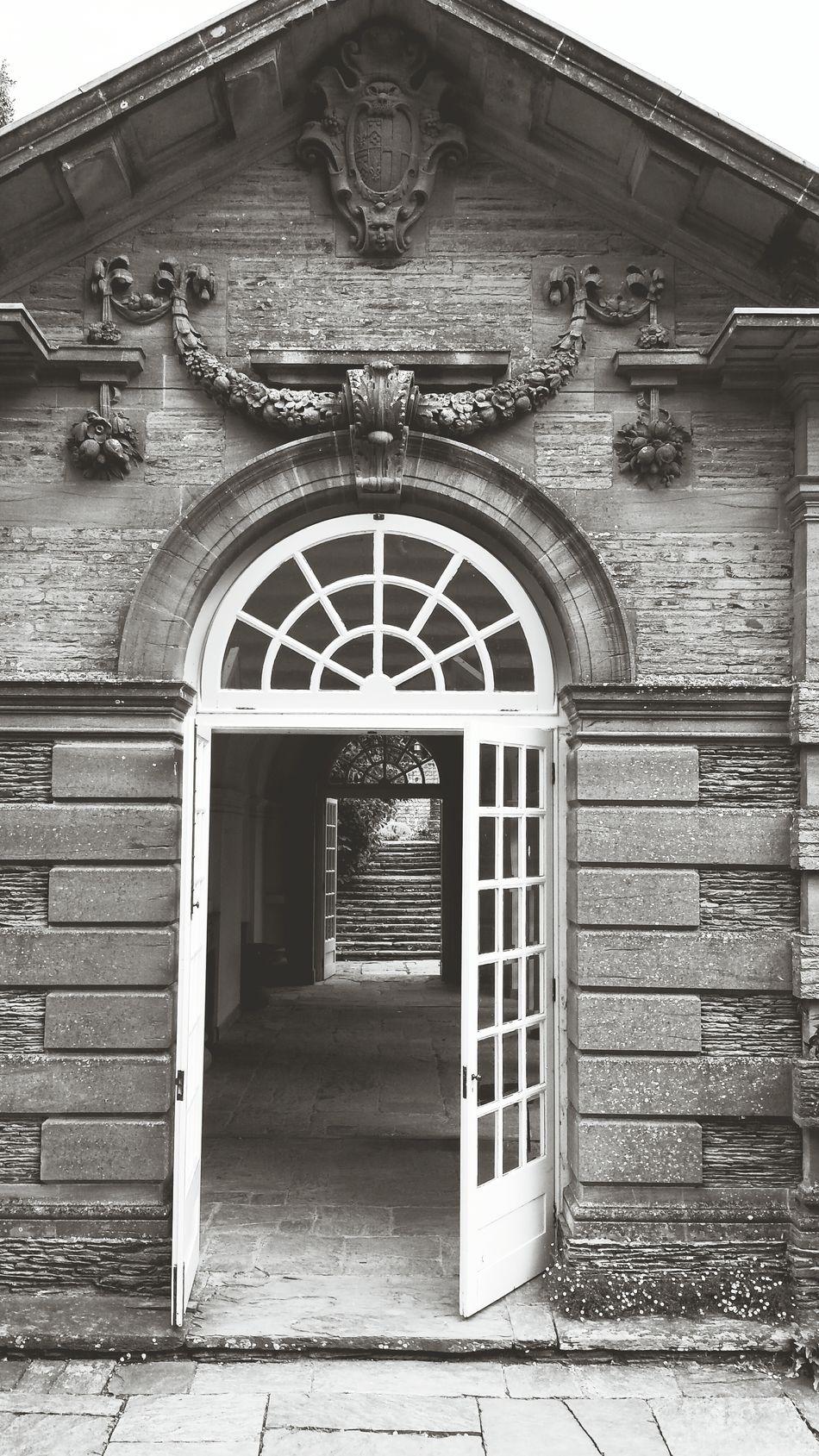 Stone Buildings Outdoors Hestercombe House Somerset England Blackandwhite Historical