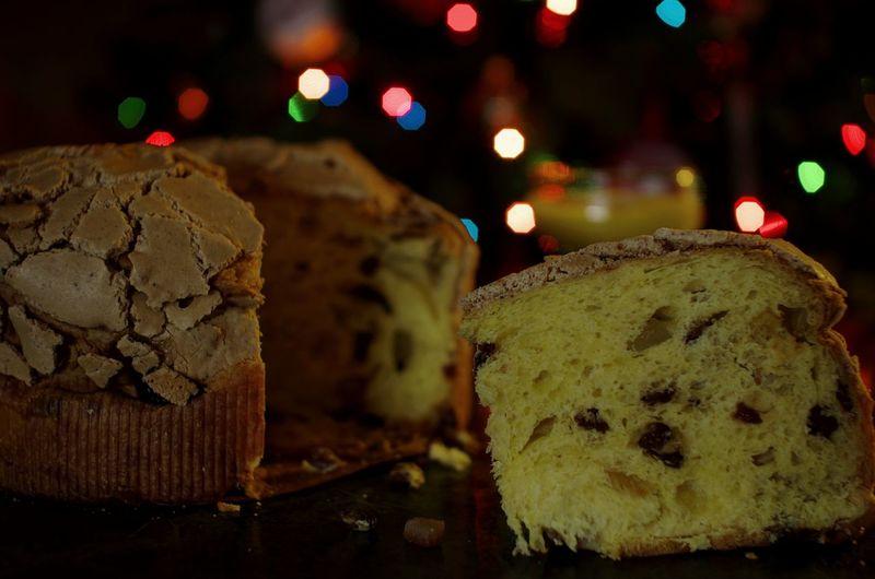 Holiday Desserts Italian Panettone Panettone Homemade Baked Raisin w/ Moscatodasti Frosting Hazelnut Candied Peel Zabaione Xmas Tree Xmas Lights  Xmas Time Pentax K-5 Sigma 30mm/1.4