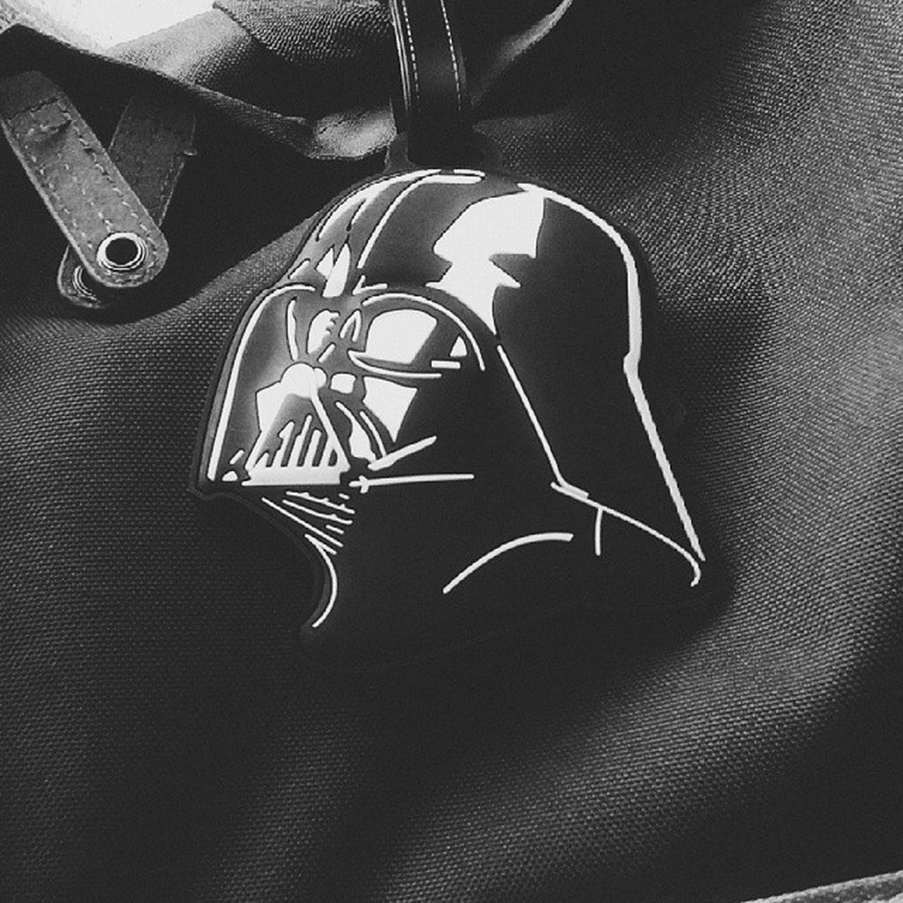 the force is strong in my bag. Maytheforcebewithmeforcollege Star Wars Darth Vader B&w