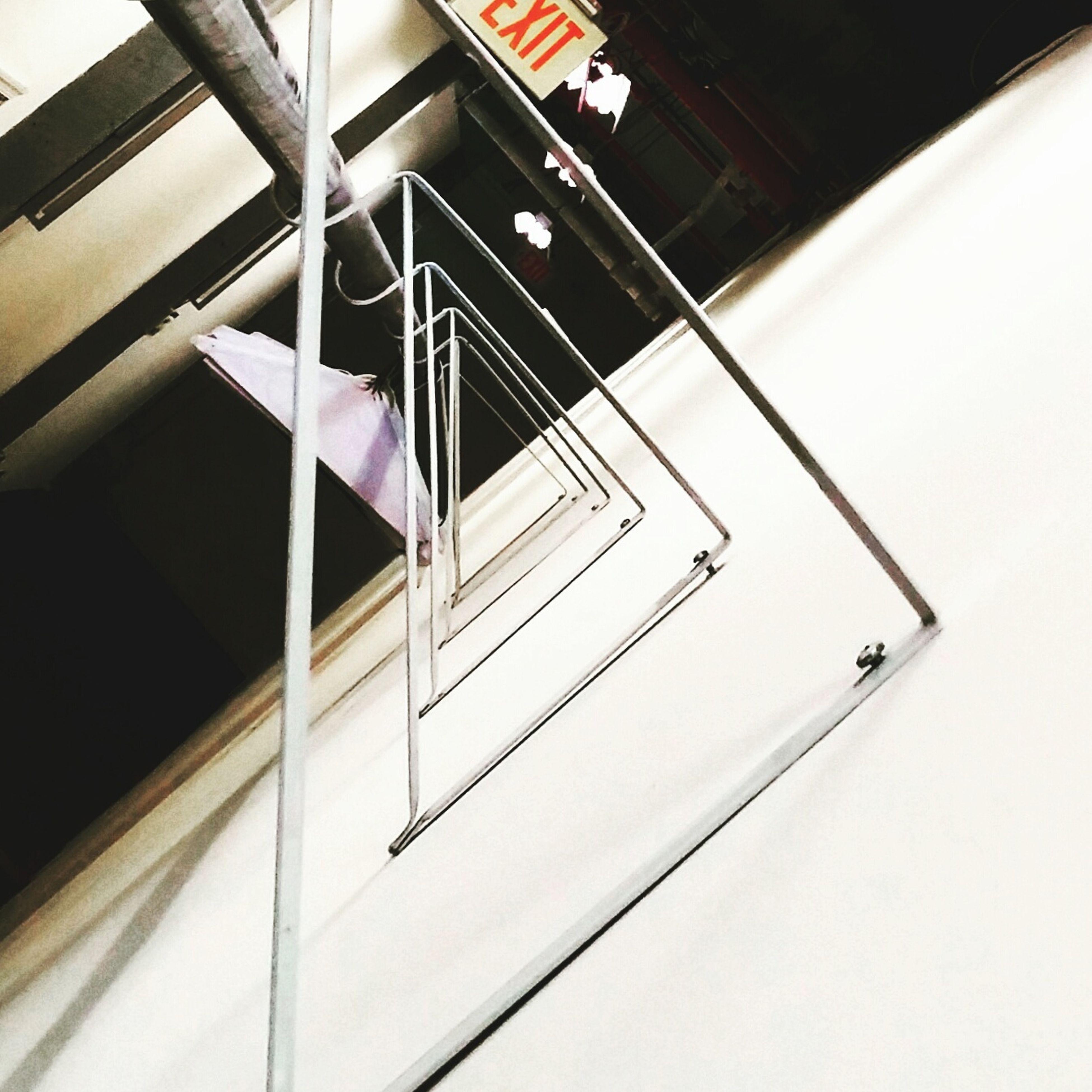 high angle view, railing, day