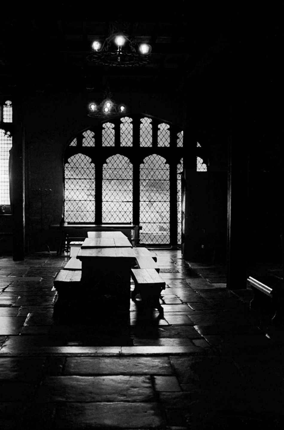 Montsalvat Great Hall Eltham Dining Room Dining Room Table Banquet Banquet Hall Banqueting Hall B&w Photography B&w Architecture