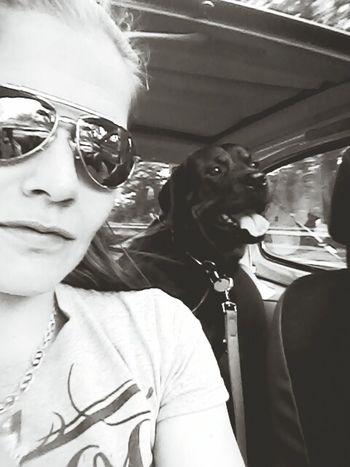 Unterwegs ◀☆→▼← In Deutschland In Germany Ich Und Mein Hund My Dog Is Cooler Than Your Kid. Black And White Photography Mein Automoment MonochromePhotography My Dog EyeEm Dog Lover Monochrome Photography