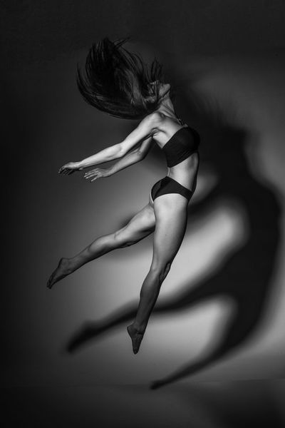 poetic motion.... Boogie Fit Girl Jump Poetic Shadows & Lights Action Shot  Black And White Photography Black Hair Illvisuals Long Hair Movement Rezones