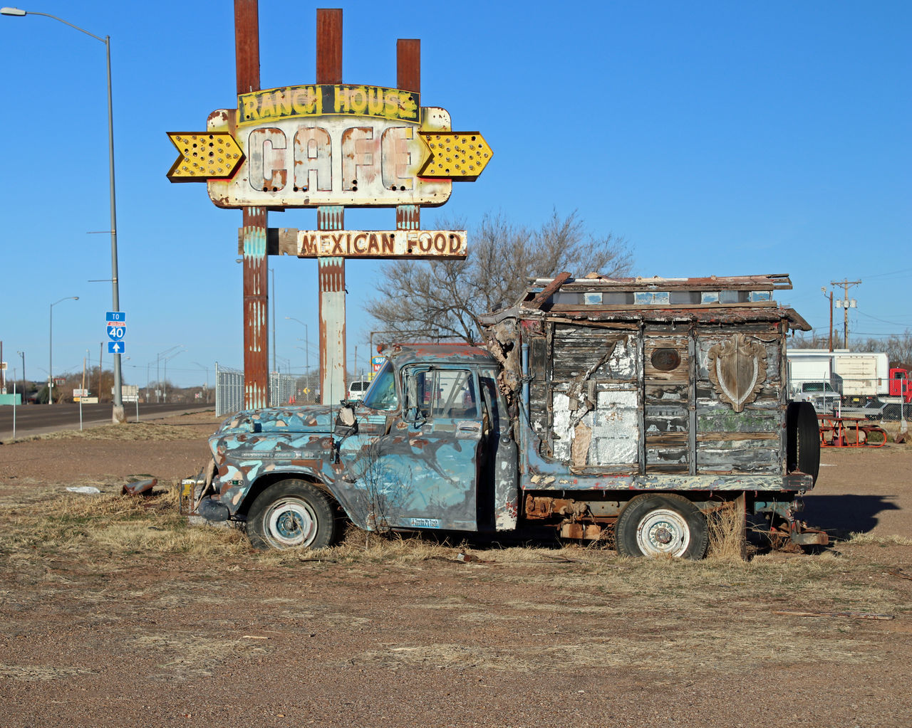 Route 66...New Mexico Abandoned Architecture Blue Building Exterior Built Structure Clear Sky Day New Mexico No People Outdoors Sky Text