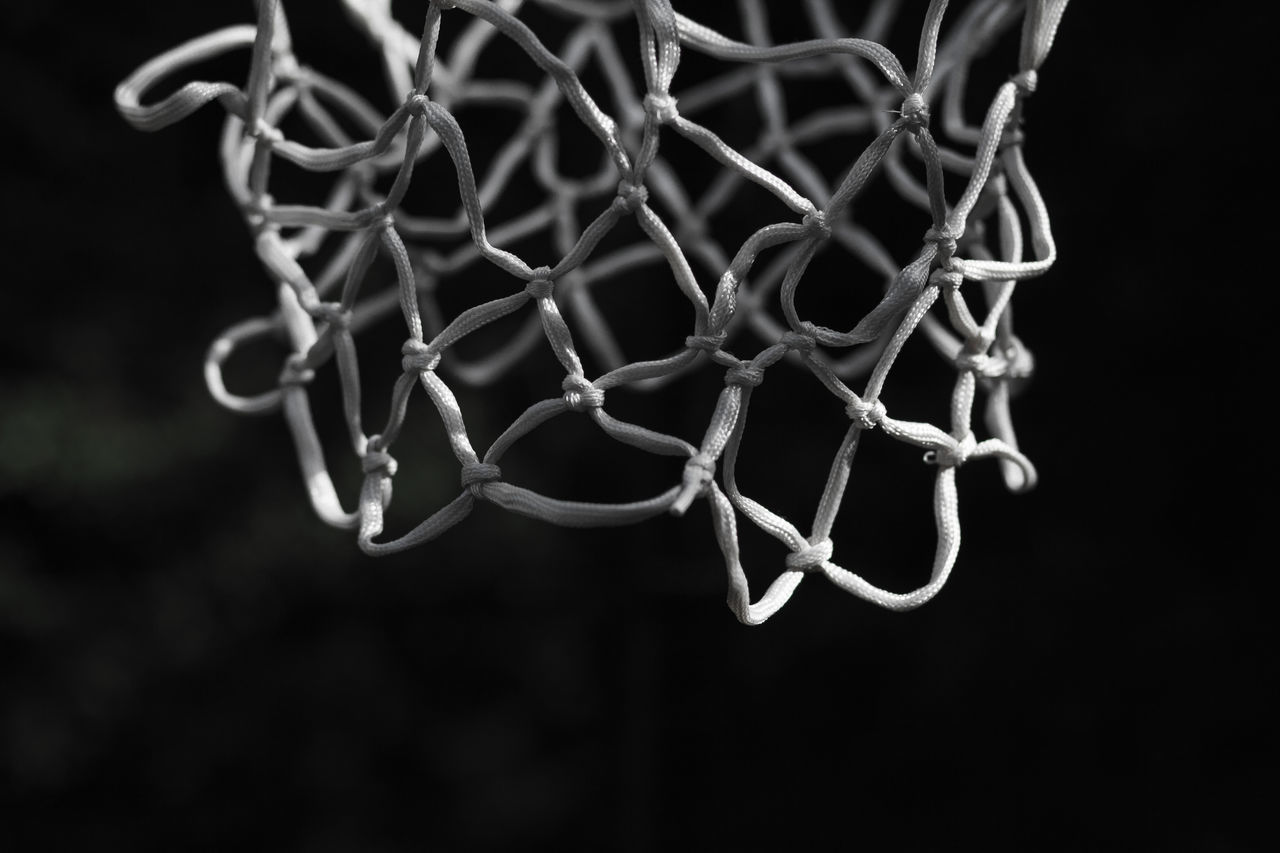 Basketball - Sport Black And White Black Background Blackandwhite Close-up Day Light Light And Shadow Light And Shadows Metal Minimalism Monochrome Net No People Outdoors Pattern Shadow Sport Art Is Everywhere