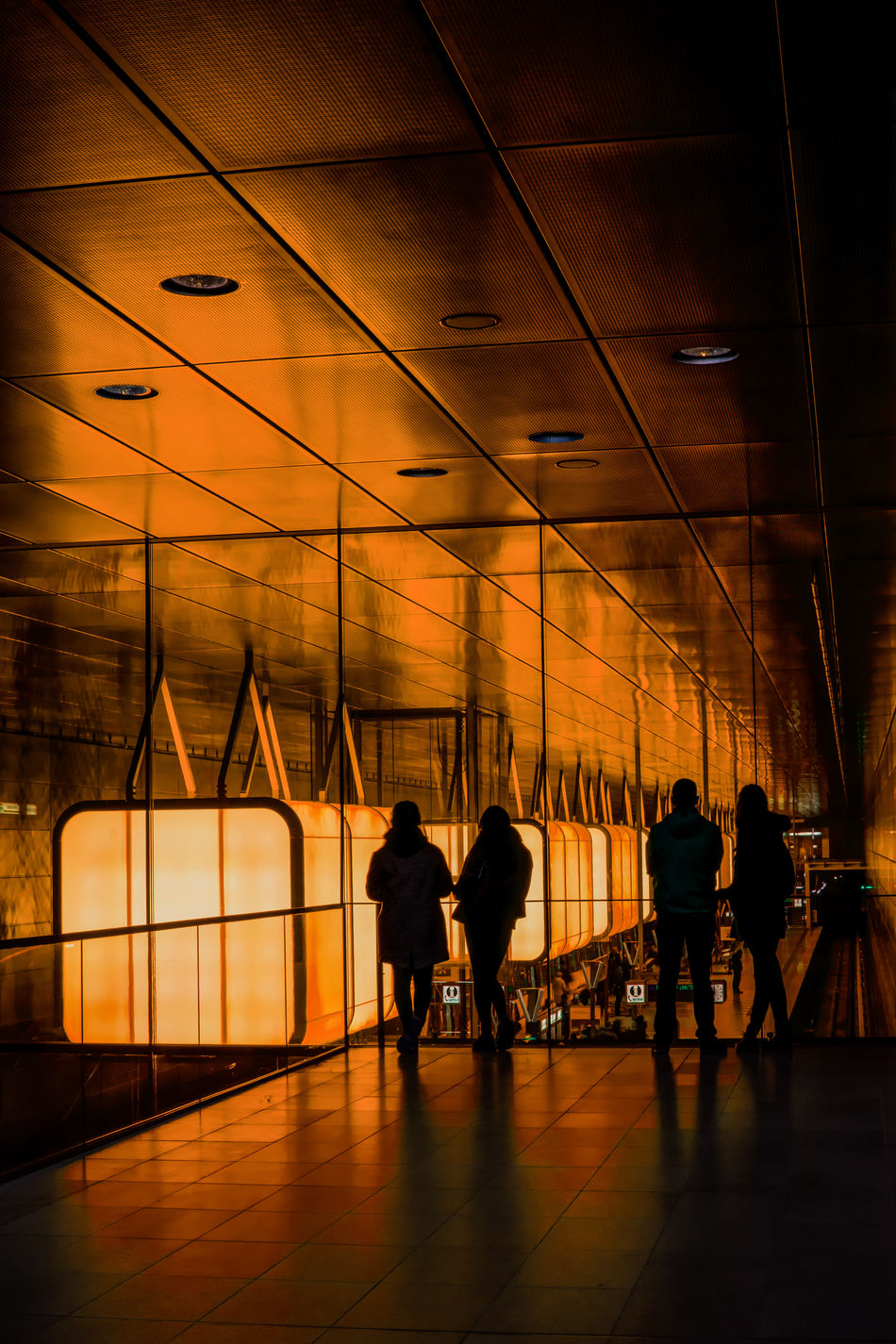 Good ideas glow in the dark. Silhouette People City Cityscape Creative Photography CreativePhotographer Architecture_collection Architecture City Life Urban Exploration Europe HDR Shadows And Light Night Lights Illuminated Hamburg Hamburg Hafencity HafenCity University Hafencityuniversität Adults Only Train Station Tube Station  Glow Colourful Travel Destinations