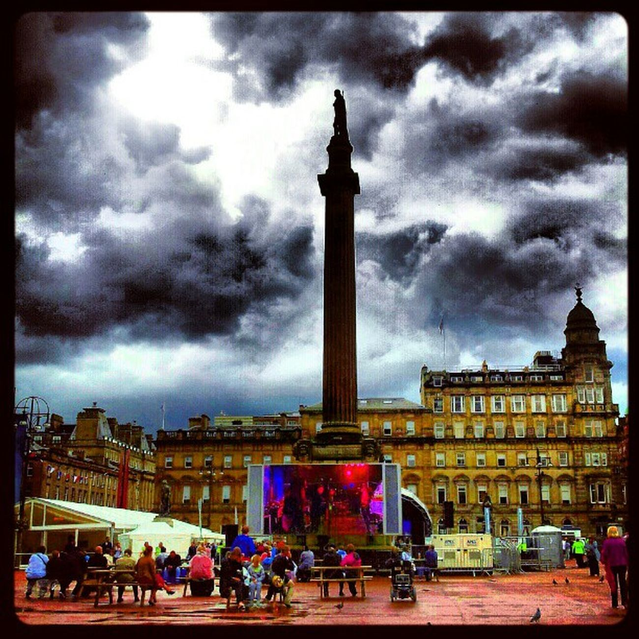'George Square for Queen's visit' Georgesquare Glasgow  Scotland Monument Memorial GiantTV buildingporn Buildings Architecture architectureporn Cloudporn sky skyporn igscout igscotland igtube igaddict Igers igdaily haggismunchers most_deserving Tagstagram instagood instamob instagrammers PicOfTheDay bestoftheday Primeshots