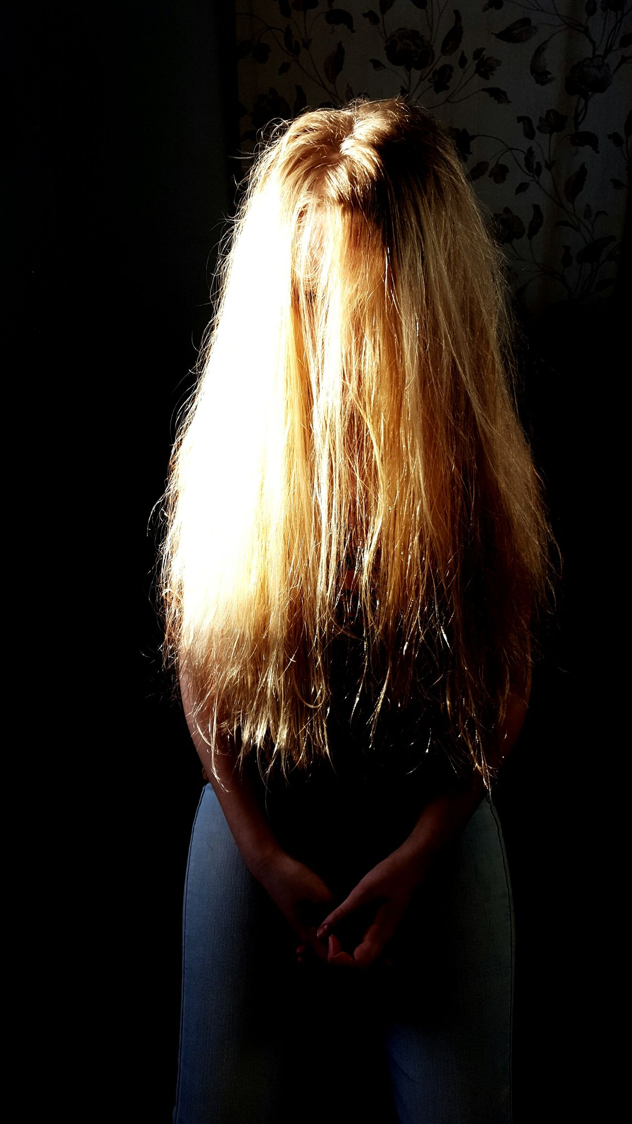 One Person Blond Hair Human Body Part Long Hair Blonde Girl Surrealism Sunset Dramatic Angles