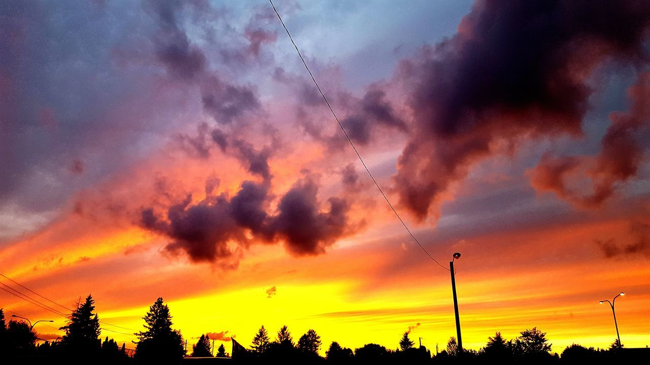 I had to find a spot to capture this gorgeous sunset, 2016. Cloud - Sky Sunset Sky Silhouette Dramatic Sky No People Outdoors Scenics Fire In The Sky... Fire In The Clouds Ominous Sky Ominous Clouds