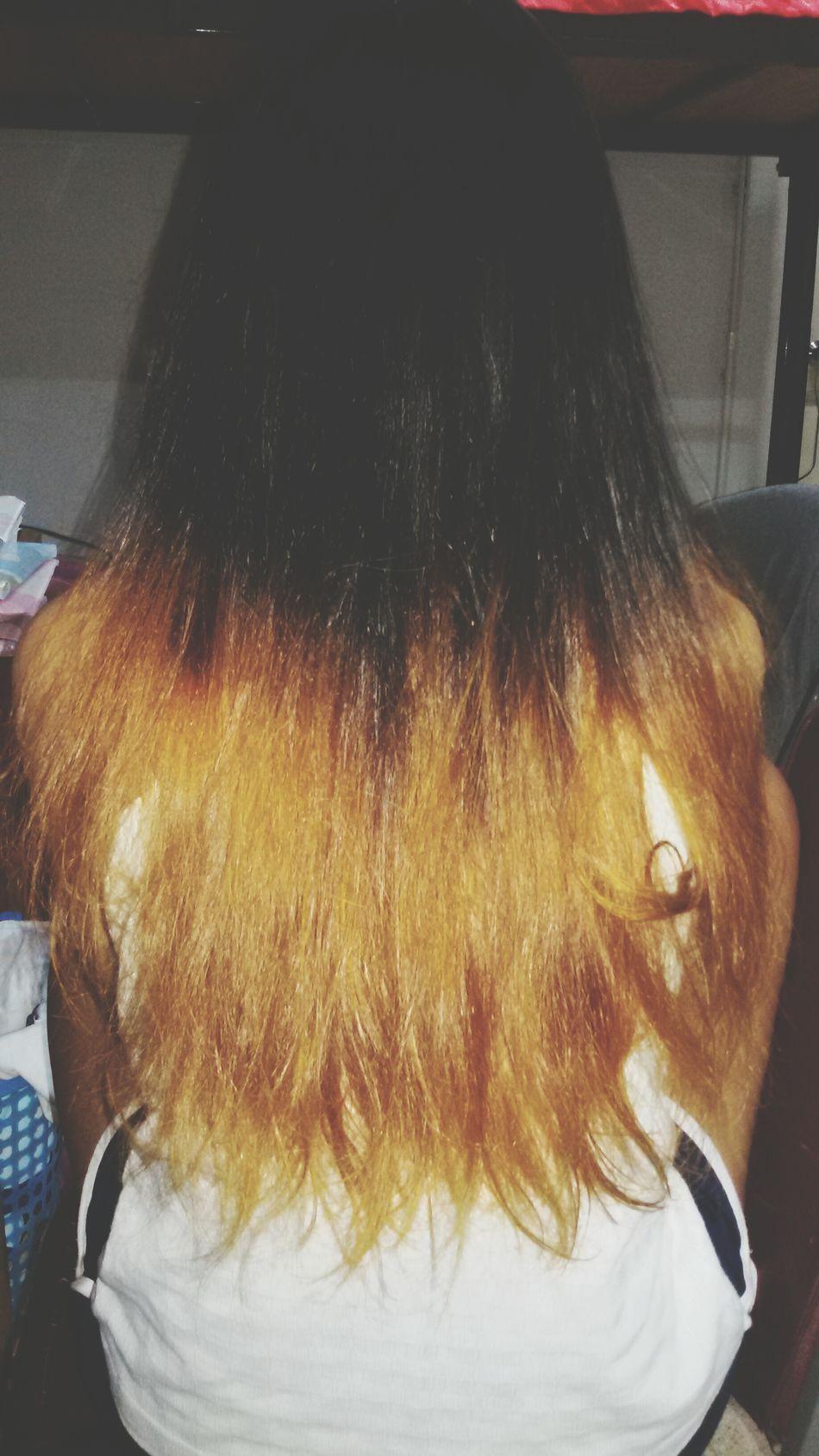 Chang my look. Is it good or bad? Not sure 😕 Hairstyle Dip Dye Hair My Hair First Eyeem Photo
