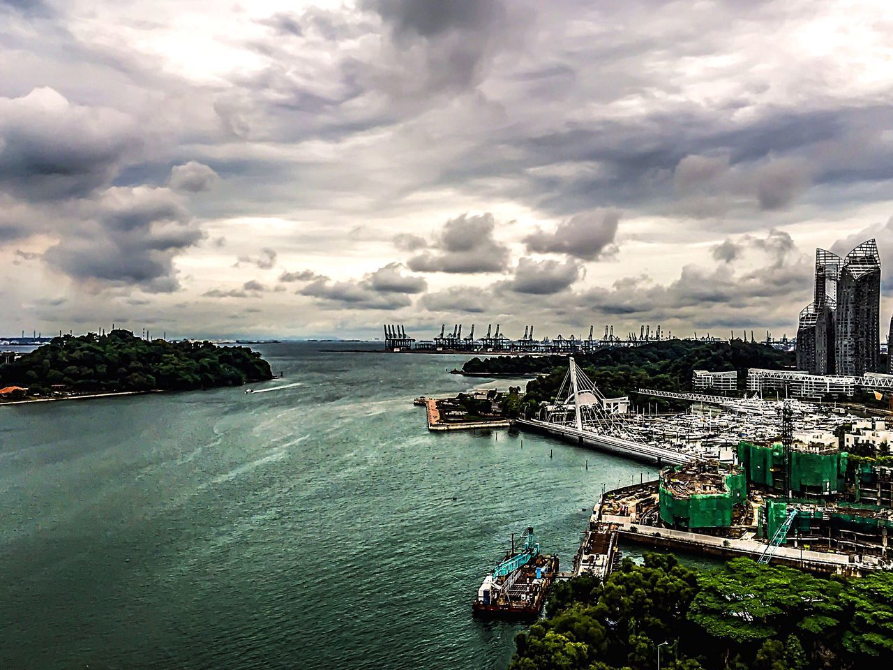 Clouds in Singapore taken from cable car from Mt.faber