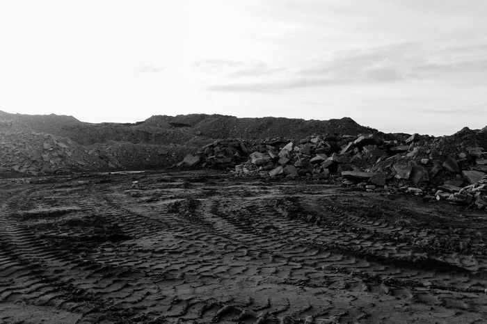 Landscape Outdoors No People Sky Nature Day Mountain Beauty In Nature The Great Outdoors - 2017 EyeEm Awards Life On Mars Mars Tyre Tracks Mud Countryside Textures And Surfaces Quarry Landscapes Black & White Monochrome Black And White BYOPaper! Tranquil Scene Calderdale Yorkshire Rock