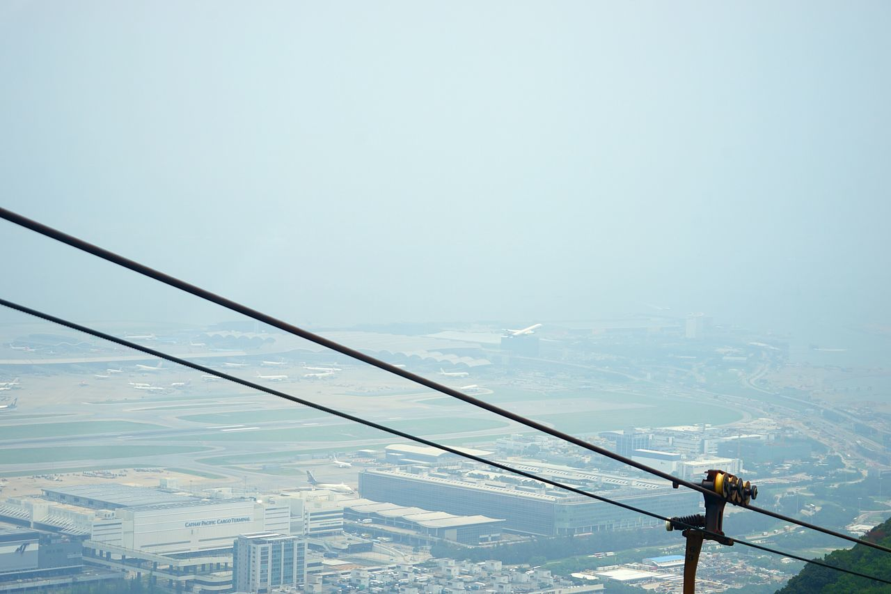 Hongkong Photos Cable Car Airplane Liftup Taking Photos Fresh Scent Light And Shadow Travel Airport Streamzoofamily