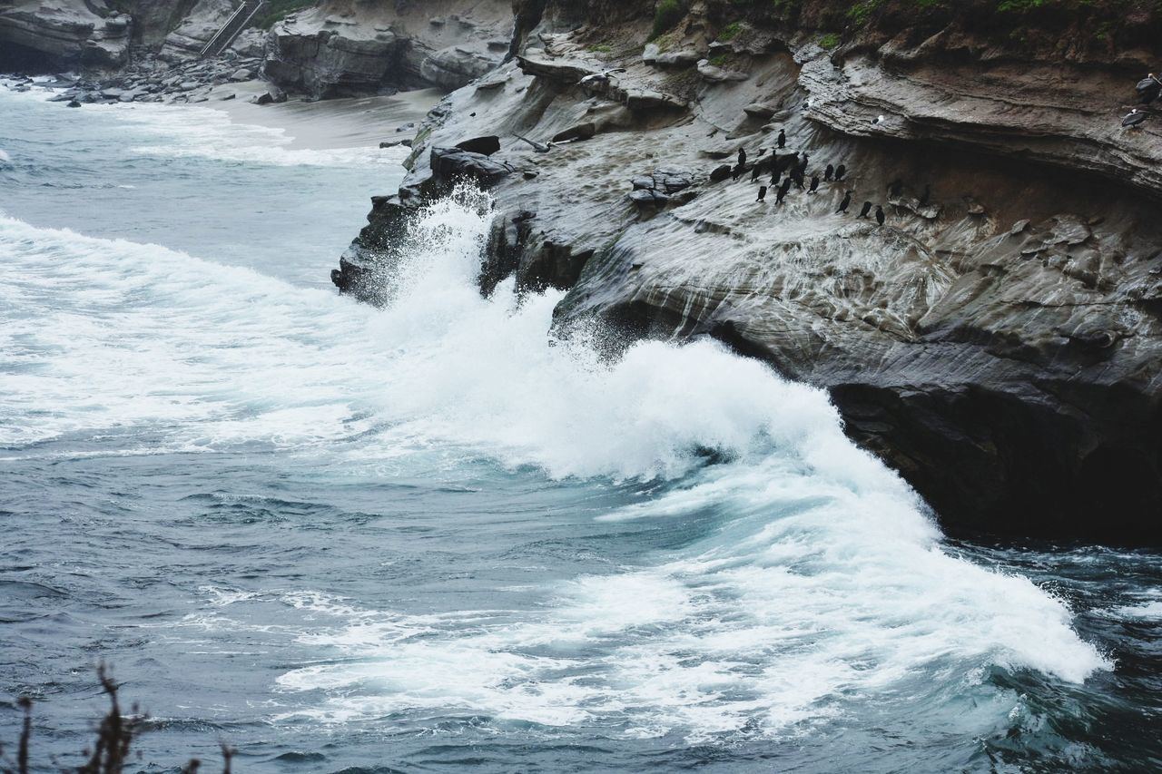 sea, nature, beauty in nature, rough, motion, no people, wave, day, water, power in nature, scenics, outdoors, force