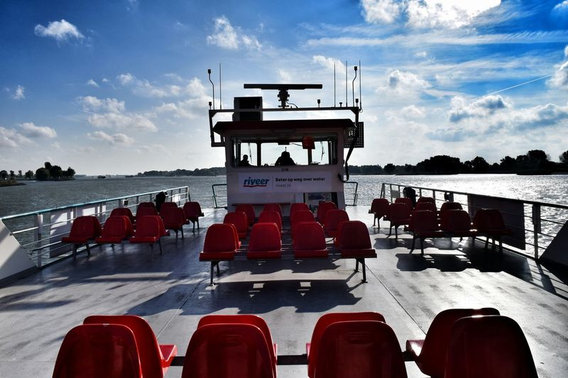 River Ferry.. Transportation Mode Of Transport Water Nautical Vessel Passenger Craft Ferry Journey Cloud Sky Follow4follow Netherlands ❤ Landscape River Photooftheday Picoftheday Enjoying Life Bike Bikeferry River View River Collection Boat Boats⛵️ Boats And Water Boats Bateau