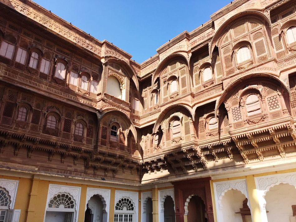 Travel Destinations Mehrangarh Building Exterior Architecture Built Structure Outdoors History Clear Sky IPhoneography EyeEm Gallery Taking Photos Eye4photography  EyeEmBestPics EyeEm Best Shots From My Point Of View First Eyeem Photo Getting Inspired Tourism EyeEm