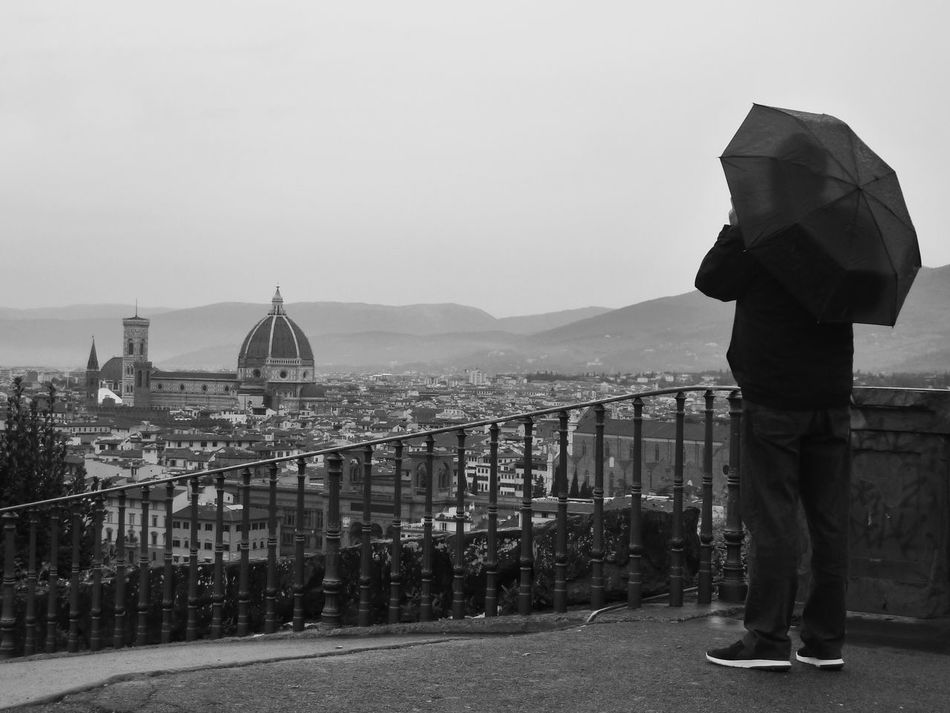 Rainy day in florence One Person Loneliness City Outdoors Adult Welcome To Black EyeEm Gallery Ladyphotographerofthemonth Sadness Rainy Day Person With Umbrella Unbrella Looking Down Cityview Grey Atmosphere Grey And Black Florence Italy Tristesse Travel Destinations