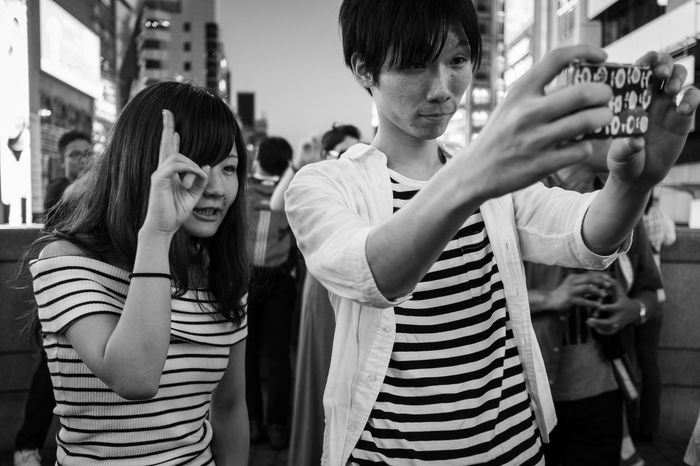 stars in stripes Monochrome Night Lights Japan Street Photography Japanese Style Selfie ✌