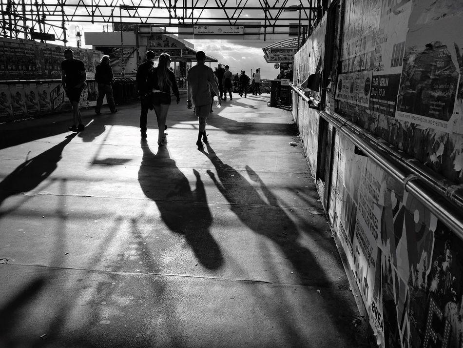 Blackandwhite Warschauerbrücke My Fuckin Berlin Blackandwhite Photography People Watching Sunset
