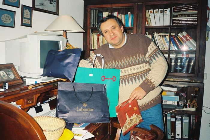In Avis, Portugal 1993 Casual Clothing Christmas Presents  Holding In Avis, Portugal Indoors  Large Group Of Objects Men Person Standing The Culture Of The Holidays