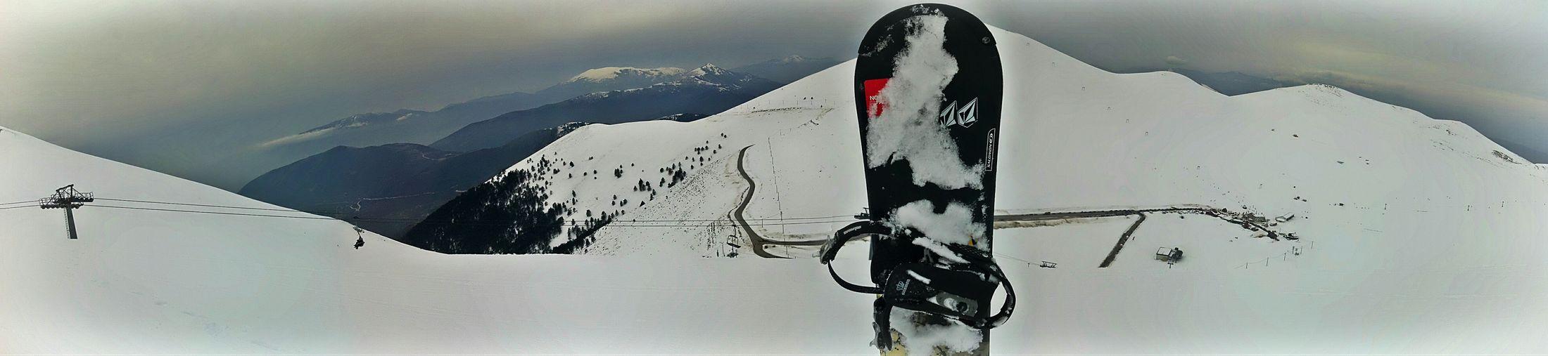 Snowboard In Falakro Mountain, Drama, Greece