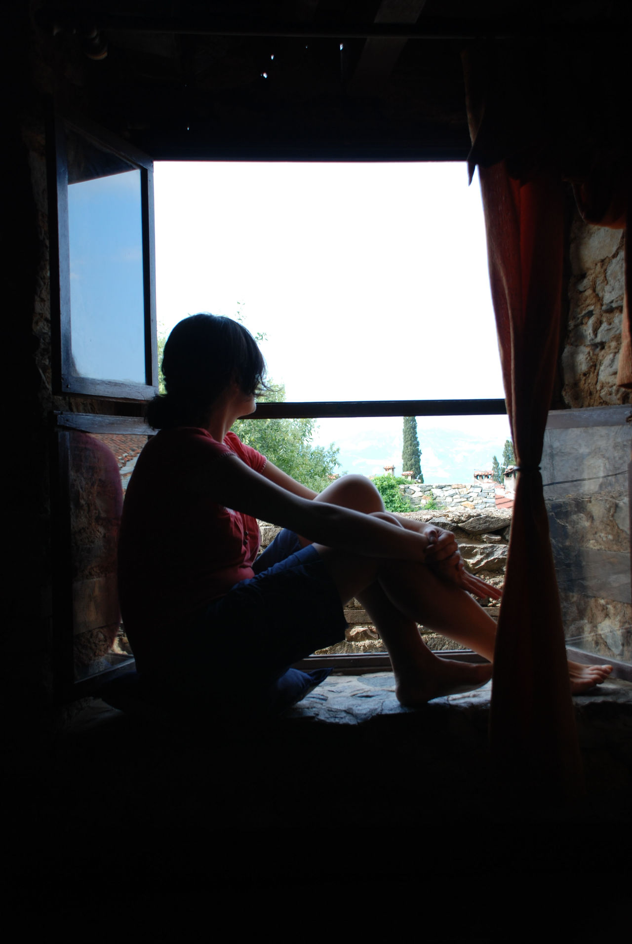 Looking out Adult Bursa / Turkey Cumalikizik Day Full Length Indoors  Looking Looking Out Of The Window One Person One Woman Only Only Women People Real People Sitting Village Life Window Young Adult