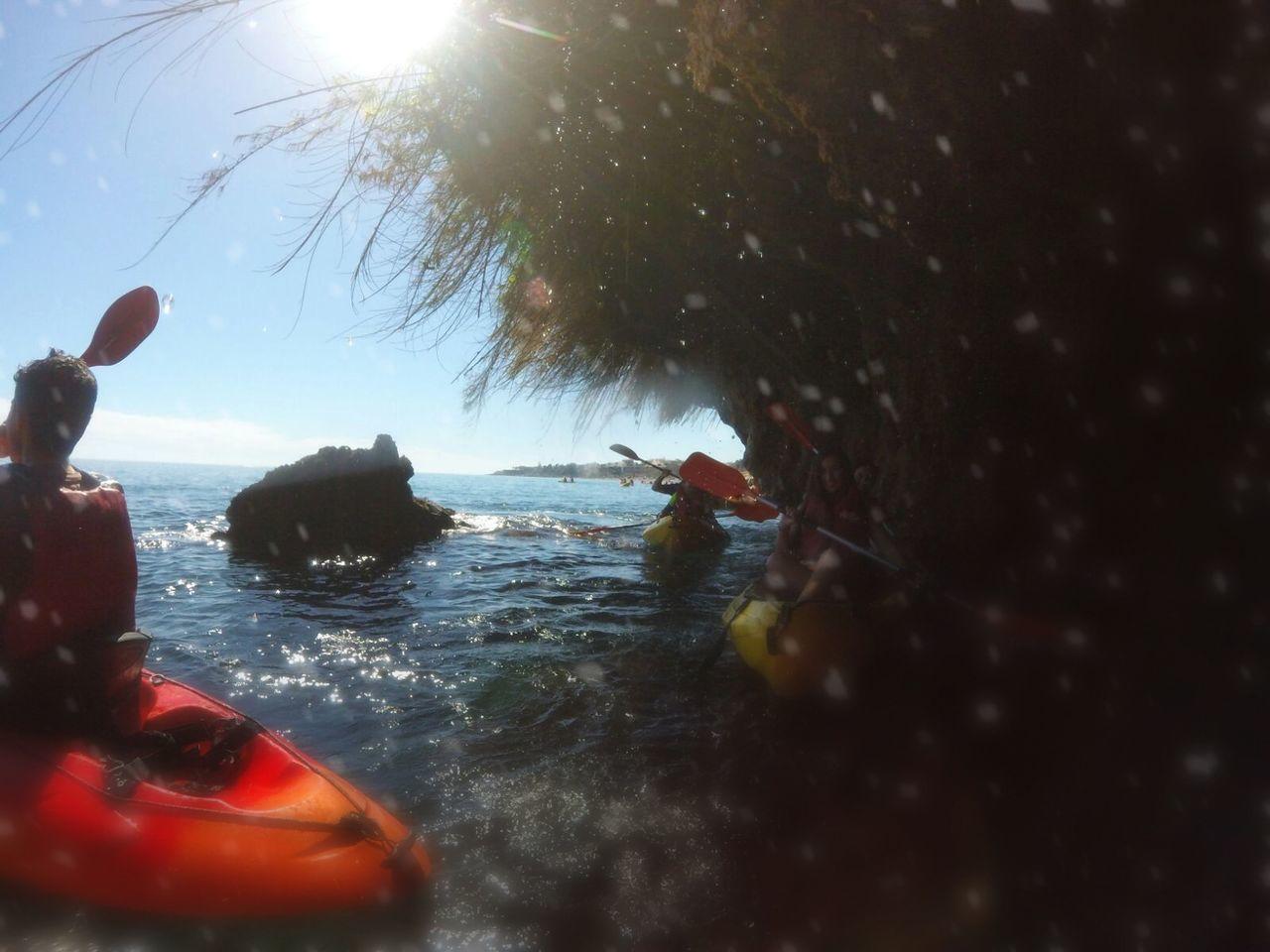 Close-up Day Kayaking Nature Nautical Vessel Nerja Coast Outdoors People Sea Sky SPAIN Sun Sunbeam Tree Water