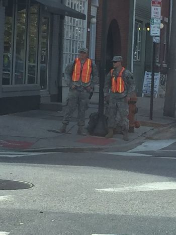 National Guardsmen on every corner in center city. The madness begins! ATouristInMyOwnCity ScenesFromTheStreet TheSidewalksOfTheCity EyeEm Best Shots Pope Francis In Philadelphia PopeInPhilly Popefrancis