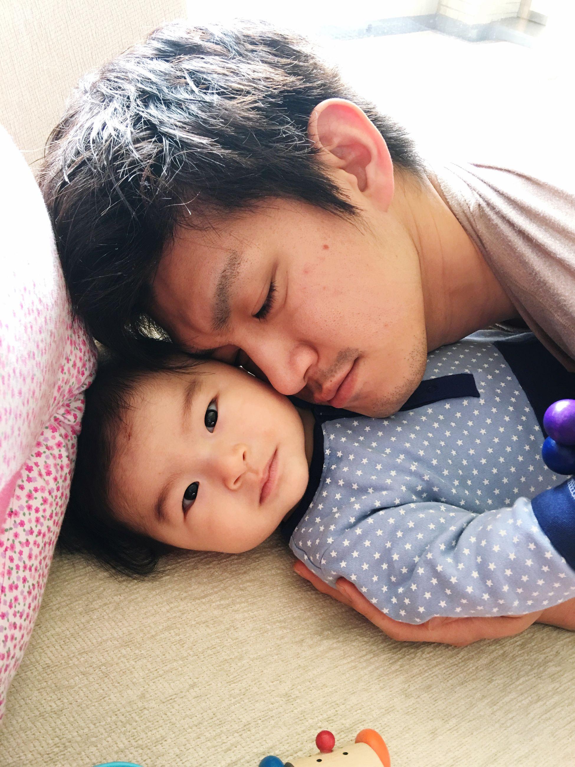 Father & Son Love Baby Innocence Bonding Babyhood Indoors  Family Myfavoritephoto Mysweetbabies Treasure