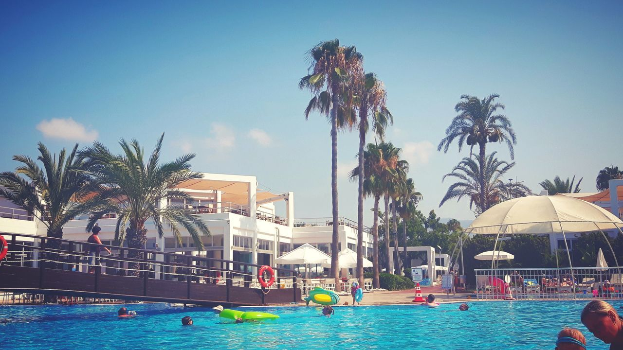 Swimming Pool Water Vacations Summer Swimming Palm Tree Tourist ResortSummervibes Water Park Tree People Day Outdoors Summertime Summer Views Holiday Relax Summerv Real People Nature Sky Photography EyeEm Selects Photographer Kastalia S