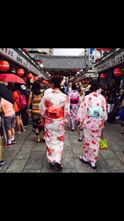 Large Group Of People Full Length Cultures Women Tradition Walking Outdoors Kimono Travel Destinations Building Exterior Lifestyles Day Celebration Japan Japanese Culture Japanese Temple Japan Scenery Japanese Market Leisure