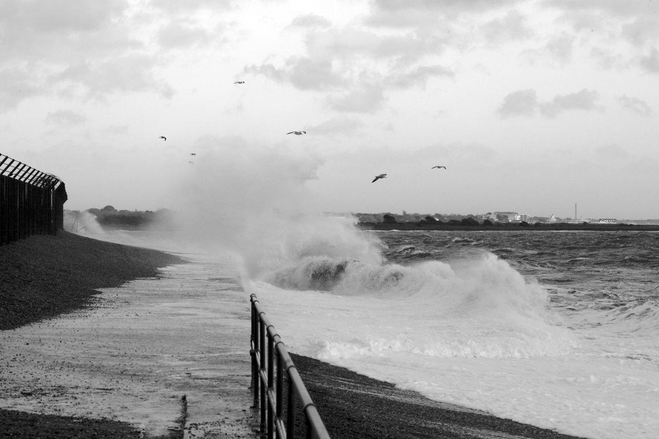 The Playful Sea Black & White Blackandwhite Sea Sea And Sky Waves