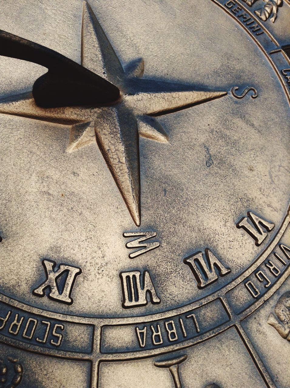Close-Up Of Sundial
