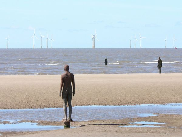 Another Place by Antony Gormley Another Place Another Place By Anthony Gormley Antony Gormley Art Beach Crosby Beach Figure Man Sculpture Landscapes With WhiteWall