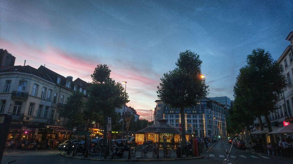Brussels Bruxelles-Capital Bruxelles ❤ Place Jourdan Sunset