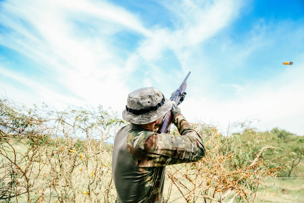 Beautiful stock photos of hunting,  Camouflage Clothing,  Canister,  Cloud - Sky,  Day